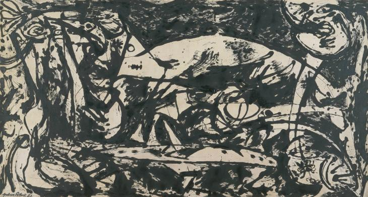 Number 14 1951 Jackson Pollock 1912-1956 Purchased with assistance from the American Fellows of the Tate Gallery Foundation 1988 http://www.tate.org.uk/art/work/T03978