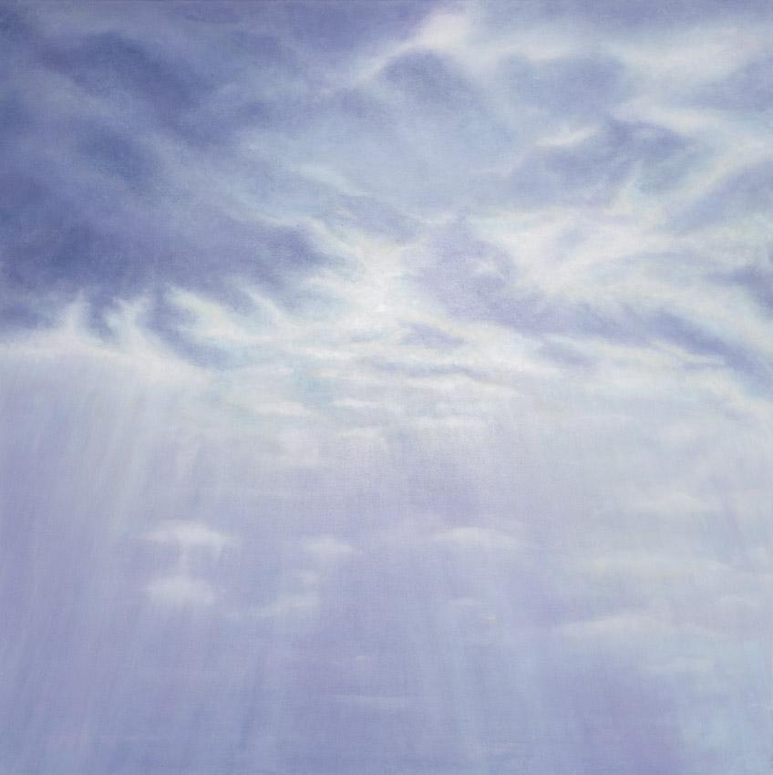 Landscape. Sun rays coming through clouds www.prithb-art.com